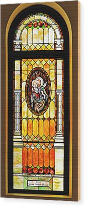 Wood Print featuring the photograph St Joseph Immaculate Conception San Diego by Christine Till