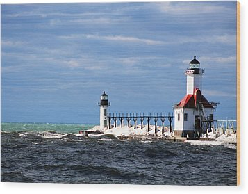 St. Joseph Lighthouse - Michigan Wood Print