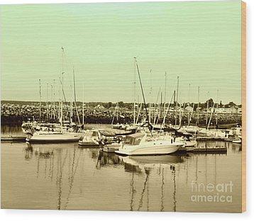 St. Lawrence Seaway Marina Wood Print