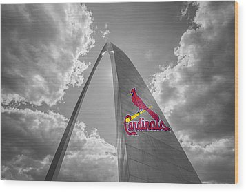 St. Louis Cardinals Busch Stadium Gateway Arch 1 Wood Print