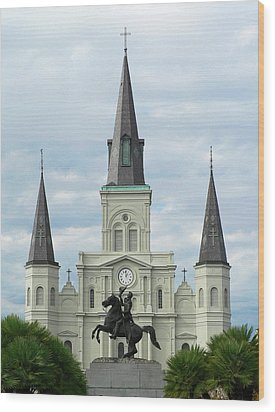 St Louis Cathedral Wood Print