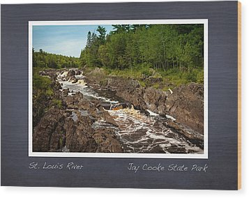 Wood Print featuring the photograph St Louis River Poster 2 by Heidi Hermes