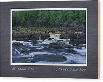 Wood Print featuring the photograph St Louis River Scrapbook Page 1 by Heidi Hermes