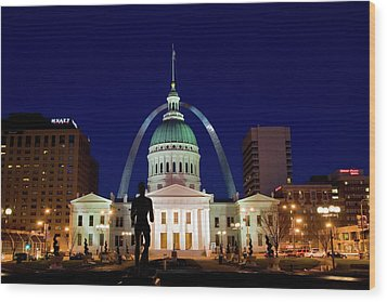 St. Louis Wood Print by Steve Stuller