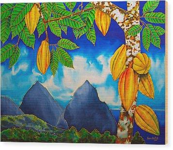 St. Lucia Cocoa Wood Print by Daniel Jean-Baptiste