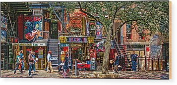 St Marks Place Wood Print by Chris Lord