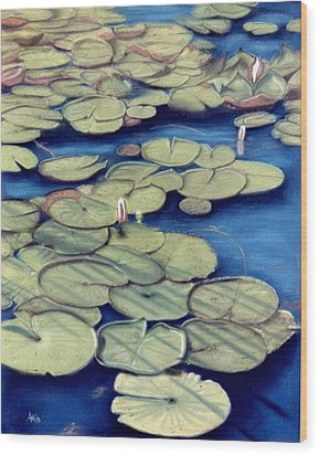 St. Marks Waterlilies Wood Print by Jan Amiss