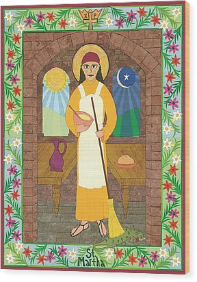 St. Martha Icon Wood Print by David Raber