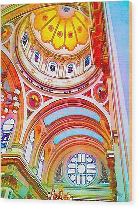 St. Mary Of The Angels 1 Wood Print by Dave Luebbert