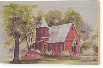 St. Mary's Chapel Wood Print by Charles Roy Smith