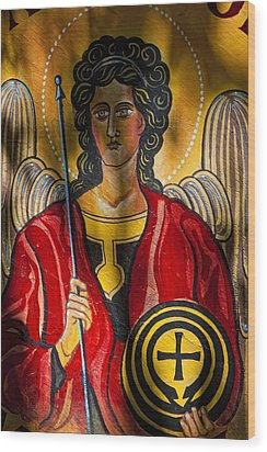 St. Michael  Wood Print by Robert Ullmann
