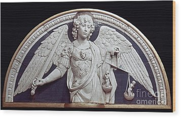 St. Michael The Archangel Wood Print by Granger