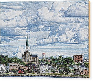 St Michaels Basilica Wood Print by KJMcGraw