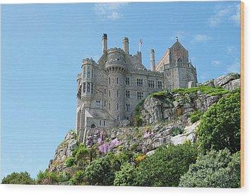 St Michael's Mount Castle Wood Print