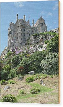 St Michael's Mount Castle II Wood Print by Helen Northcott