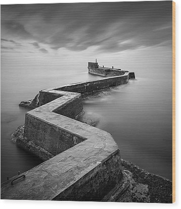 St Monans Breakwater Wood Print