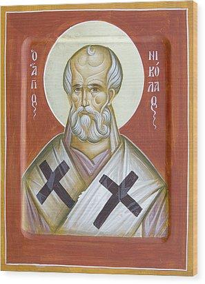 St Nicholas Of Myra Wood Print by Julia Bridget Hayes