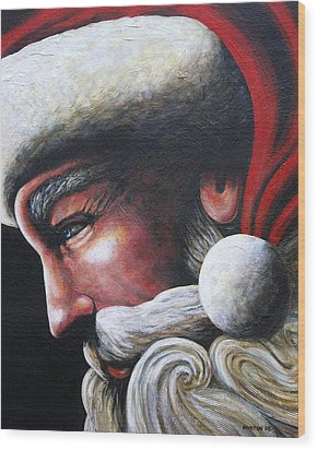 St. Nick Wood Print by Doug Norton