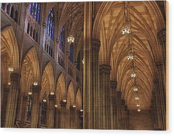 Wood Print featuring the photograph St. Patrick's Arches by Jessica Jenney
