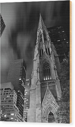 St Patricks Cathedral Wood Print by Keith Kapple