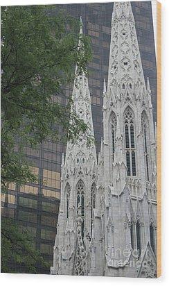 St Patricks Cathedral Wood Print