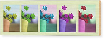 St Patrick's Day Rainbow Wood Print