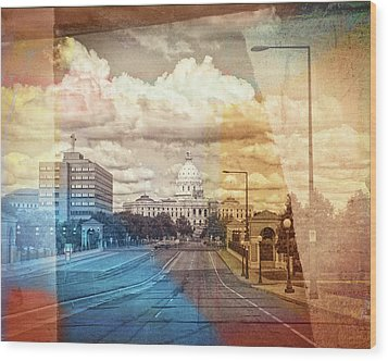 Wood Print featuring the photograph St. Paul Capital Building by Susan Stone