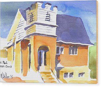 Wood Print featuring the painting St. Paul Lutheran 3 Impressions by Kip DeVore