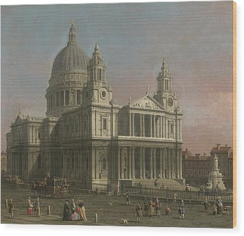 St. Paul's Cathedral Wood Print by Giovanni Antonio Canaletto