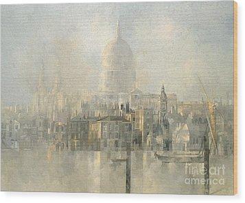 St Paul's Wood Print by Peter Miller