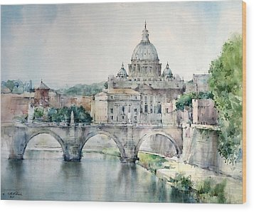 St. Peter Basilica - Rome - Italy Wood Print by Natalia Eremeyeva Duarte