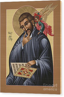 Wood Print featuring the painting St Peter Canisius Doctor Of The Church 073 by William Hart McNichols
