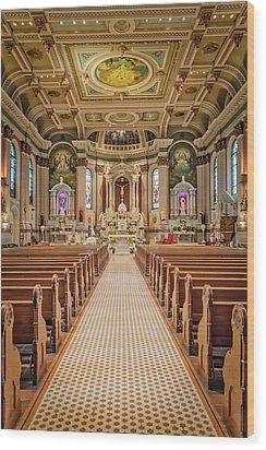 Wood Print featuring the photograph St Peter The Apostle Church Pa by Susan Candelario
