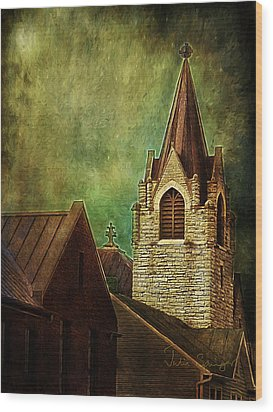 St Peter's By Night Wood Print