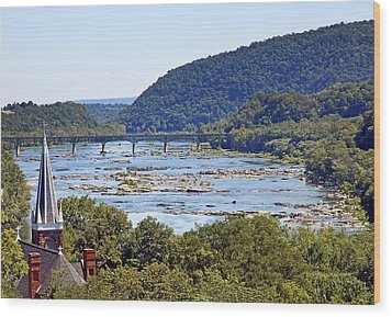 St. Peters Catholic Church In Harpers Ferry West Virginia Wood Print by Brendan Reals