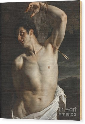 St. Sebastian Wood Print by Hippolyte Paul Delaroche