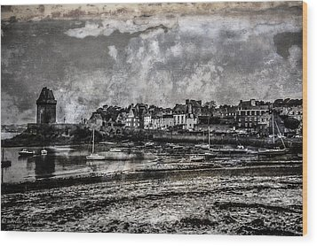 Wood Print featuring the photograph St Servan's Beach by Karo Evans
