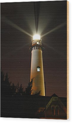 Wood Print featuring the photograph St Simons Island Lighthouse by Kathryn Meyer