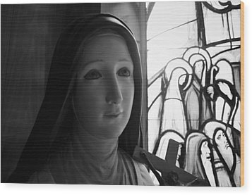Wood Print featuring the photograph St. Therese Of Lisieux by Jeanette O'Toole