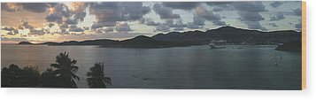 St. Thomas At Dusk Wood Print by Gary Lobdell