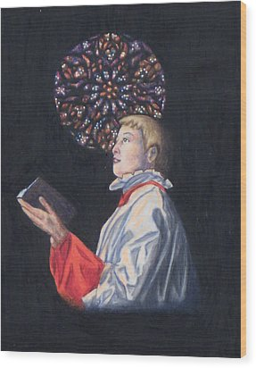 St. Thomas Episcopal Nyc Choir Boy Wood Print by Laurie Tietjen