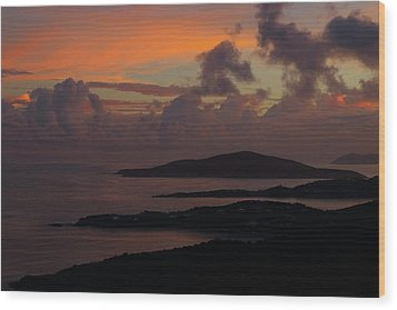 Wood Print featuring the photograph St Thomas Sunset At The U.s. Virgin Islands by Jetson Nguyen
