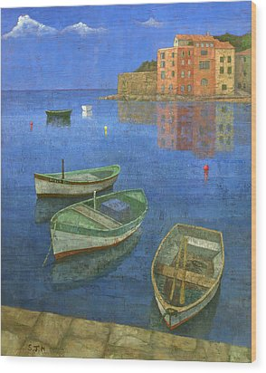 St. Tropez Wood Print by Steve Mitchell