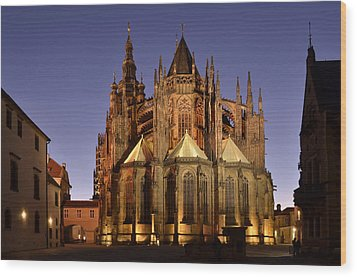 Wood Print featuring the photograph St Vitus Cathedral Prague by Marek Stepan