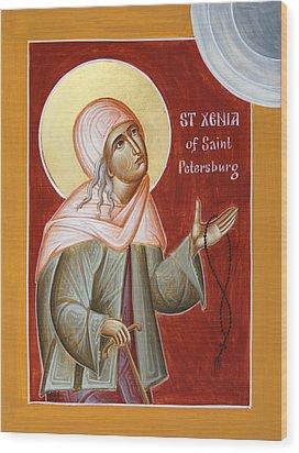 St Xenia Of St Petersburg Wood Print by Julia Bridget Hayes