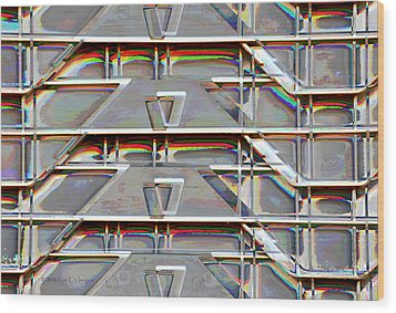 Stacked Storage Crates Abstract Wood Print