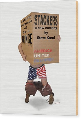 Stackers Poster Wood Print