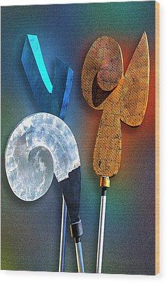Staff Meeting Wood Print by Paul Wear