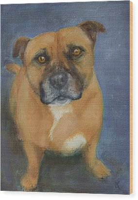 Staffordshire Bull Terrier Wood Print