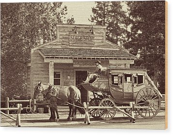 Stage Coach Stop - Jackson Hole Wy Wood Print by Christine Till